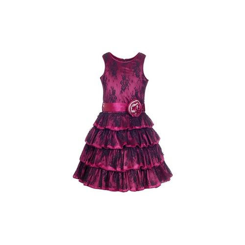 NAUGHTY NINOS Lace Tiered Dress with Tie-Up