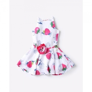Tiny Girl Printed Sleeveless Flared Dress with Florette Belt