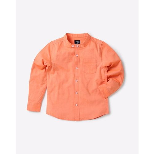 KB TEAM SPIRIT Cotton Shirt with Mandarin Collar