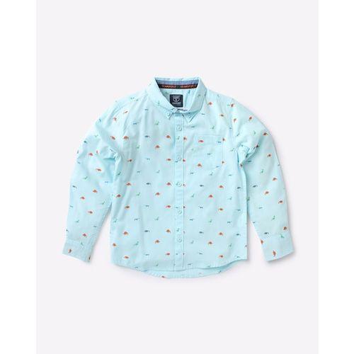 KB TEAM SPIRIT Printed Shirt with Button-Down Collar