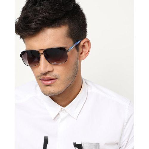 Joe Black JB-726-C1 UV-Protected Full-Rim Rectangular Sunglasses with Contrast Temples