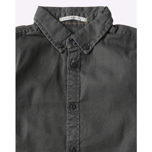 Pepe Jeans Cotton Shirt with Button-Down Collar