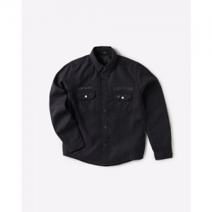 INDIAN TERRAIN Cotton Shirt with Buttoned-Flap Pockets