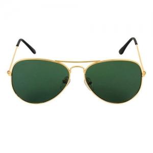 Kanny Devis AJ108 Green Aviator Sunglasses for men and women (Golden Frame with Gradient Lens)