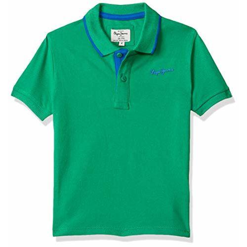 Pepe Jeans Boy's Plain Regular fit T-Shirt (PB540519_Green 10-11 Years)