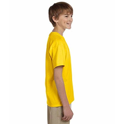 WearIndia Boy's Cotton Superhero Printed Half Sleeve Round Neck T Shirt (Yellow, 13-14 Yrs)