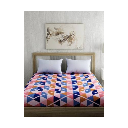 Portico New York 144 TC Cotton Double Printed Bedsheet(