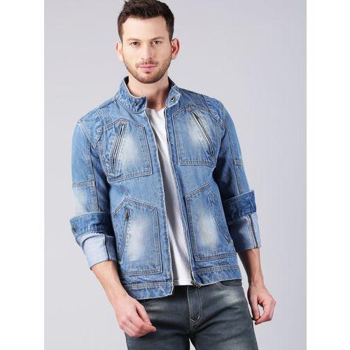 Solid Styles Full Sleeve Washed Men Denim Jacket