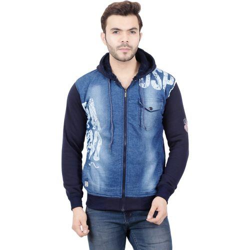 AD & AV Full Sleeve Printed, Washed Men Denim Jacket