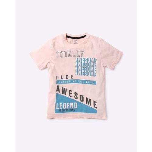 KB TEAM SPIRIT Typographic Print Crew-Neck T-shirt