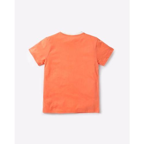 KB TEAM SPIRIT Crew-Neck T-shirt with Applique & Patch Pocket