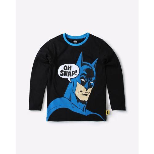 WARNER BROTHERS Batman Print Crew-Neck T-shirt