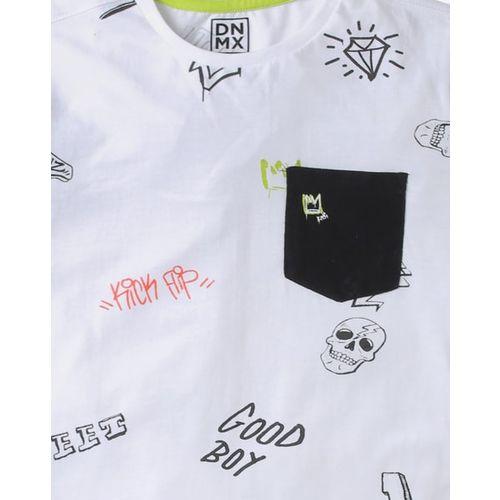 YB DNMX Cool Dude Typographic Print Round-Neck T-shirt