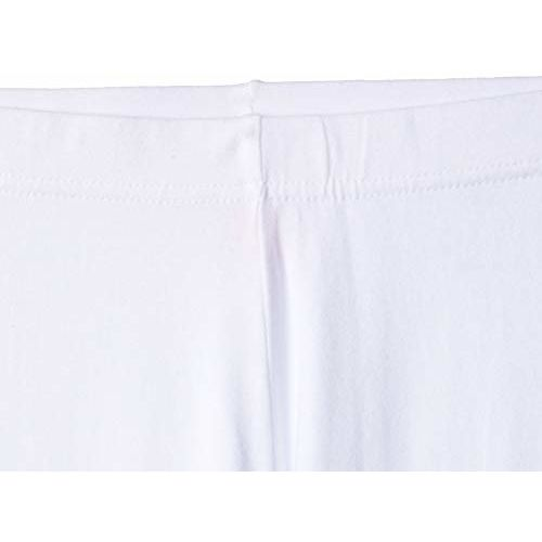 Max Girl's Cotton Leggings (NOS19ELG02_White_9-10Y)