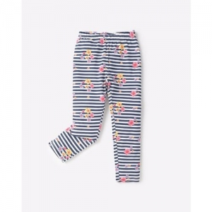 KG FRENDZ Striped Floral Print Leggings