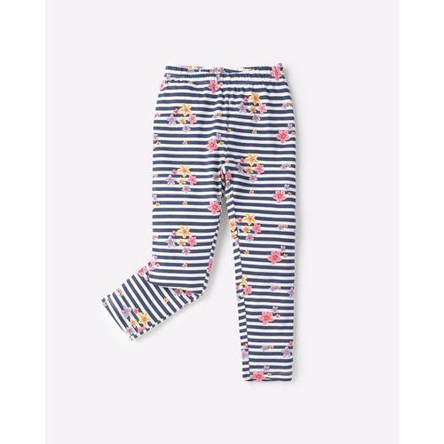 KG FRENDZ Striped Floral Print Leggings