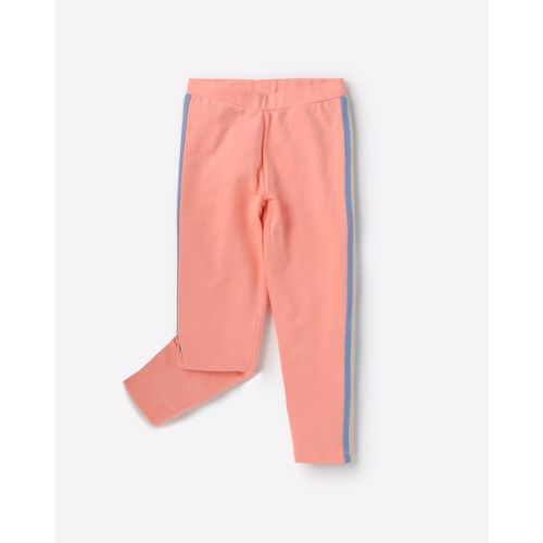 KG FRENDZ Mid-Rise Track Pants with Contrast Taping
