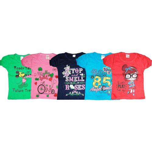 Kifayati Bazar Girls Hosiery Top(Multicolor, Pack of 5)