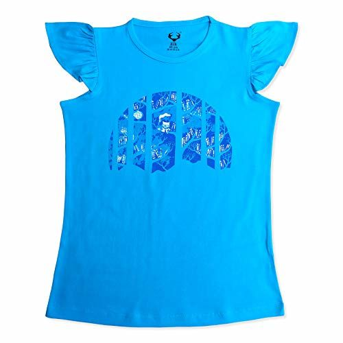 Elk Girls' T-Shirt (Pack of 5) (SB70GT-BUTFLY-GyBluMeGnPi_Multicolored_3-4 Years)