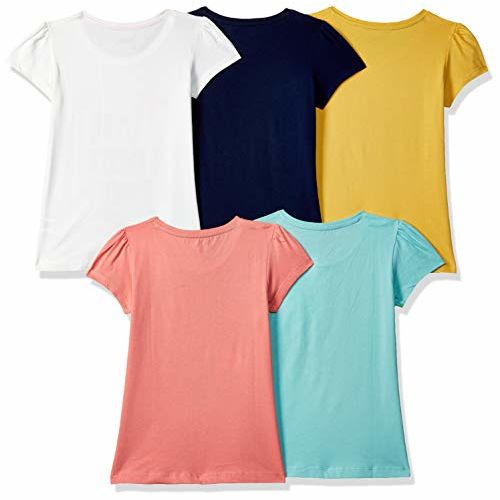 Max Girl's Cotton Floral Regular fit T-Shirt (Pack of 5)
