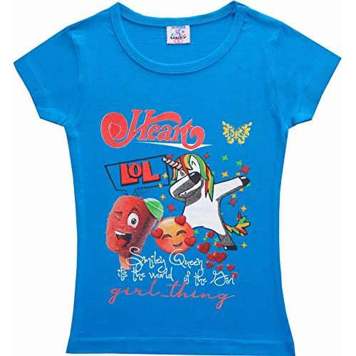 trendz polo Girls' T-Shirt (Pack of 5) (trendzgco213_Blue_13-14 Years )