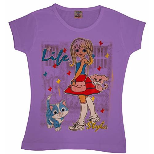 KGB Girls' T-Shirt (girls_S_3-4_combo4_Assorted_3-4 Years)