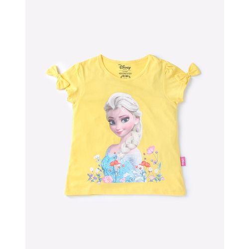 Disney Frozen Elsa Print Crew-Neck T-shirt