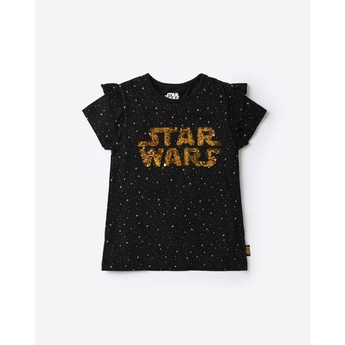Disney Printed Crew-Neck T-shirt with Reversible Sequins