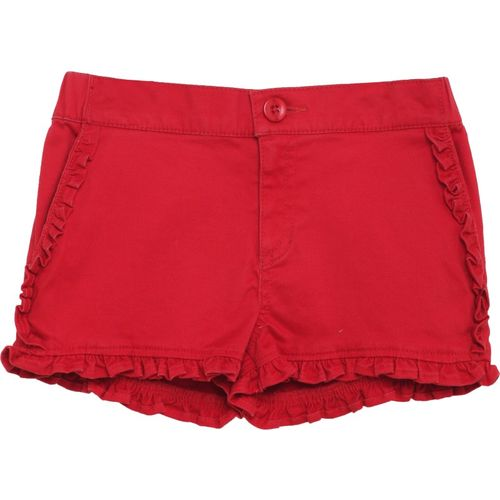 Under Fourteen Only Short For Girls Casual Solid Cotton Lycra Blend(Red, Pack of 1)