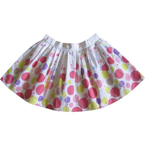 Caca Cina Printed Girls Pleated Multicolor Skirt