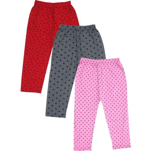fasla Capri For Girls Casual Printed Cotton Blend(Multicolor Pack of 3)