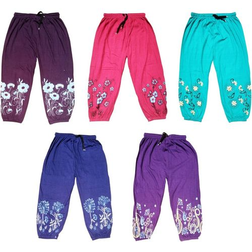 Welo Capri For Girls Casual Floral Print Cotton Blend(Multicolor Pack of 5)
