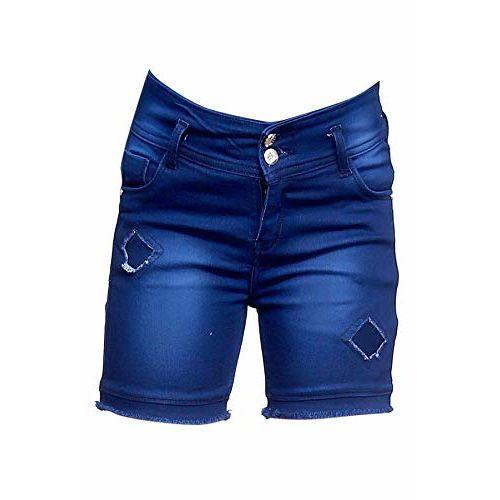 Elendra Girls Casual Stretchable Shorts (Dark Blue, 10-11 Years)