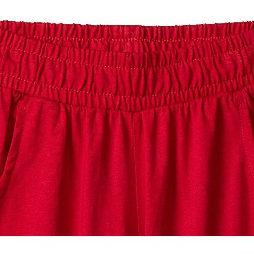 PROTEENS Girl's Regular fit Cotton Shorts (P-GS001- RED_60   4-5 Years)