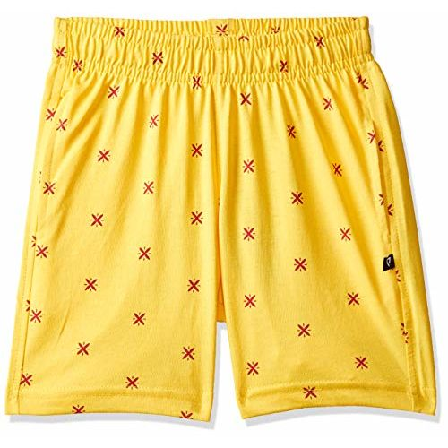 PROTEENS Girl's Regular fit Cotton Shorts (P-GS002- Yellow_55 | 3-4 Years)