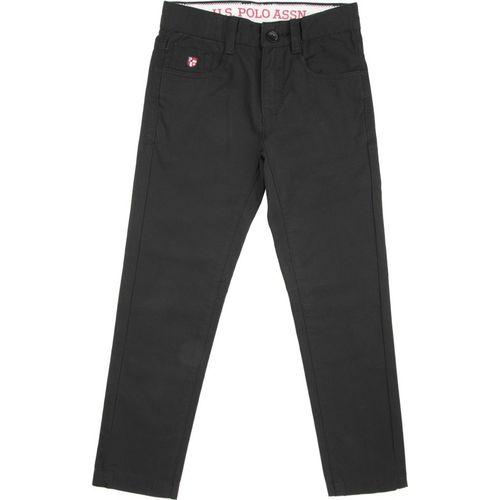 U.S. Polo Assn. Kids Slim Fit Boys Black Trousers