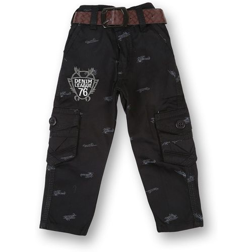V2 Retail Limited Regular Fit Baby Boys & Baby Girls Black Trousers