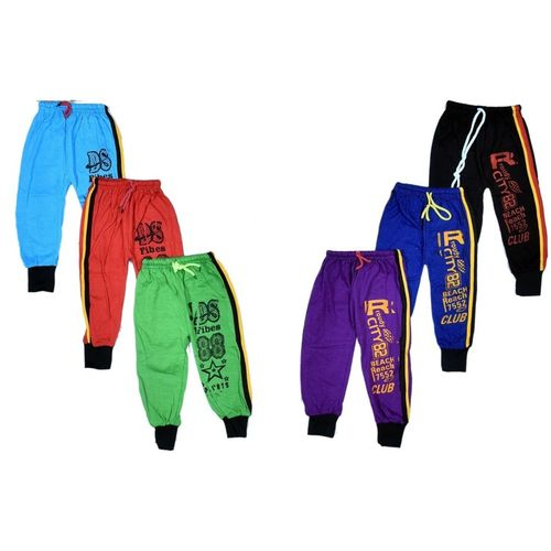 ALUXDON Track Pant For Baby Boys & Baby Girls(Multicolor, Pack of 6)