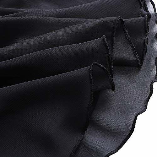 BAOHULU Girl's Skirted Leotards Camisole Cartoon Ballet Tutu Dress (6-8 Years, Sleeved Black)