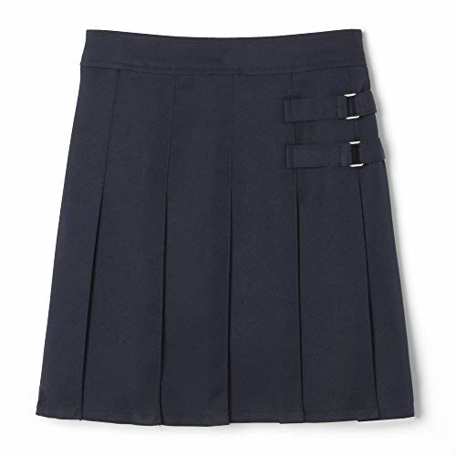 French Toast Big Girls' Two-Tab Pleated Scooter, Navy, 12