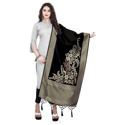 BEUNIV Art Silk Woven Women Dupatta