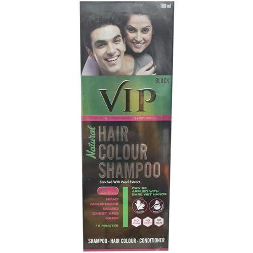 VIP Hair Colour Shampoo 5 in 1, Black