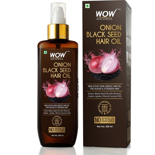 WOW Skin Science Onion Black Seed 200mL Hair Oil