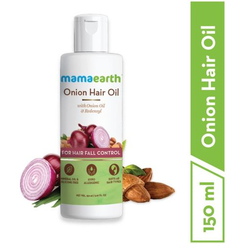 Mamaearth Onion Oil for Hair Regrowth & Hair Fall Control Hair Oil(150 ml)