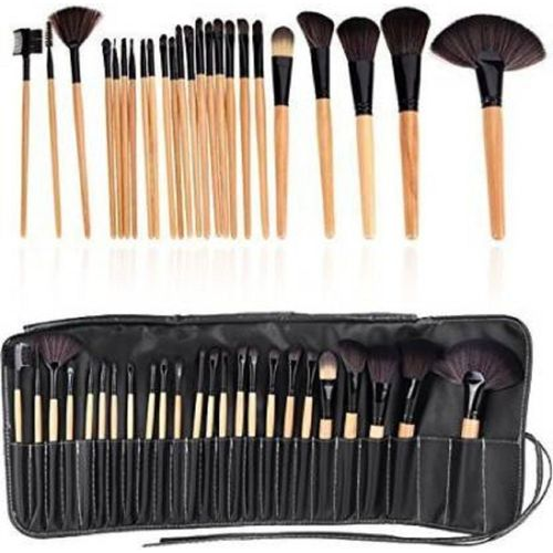 Msq Celltronic Professional Makeup Cosmetic Brush Set Kit Tool With Roll Up Case(Pack of 24)