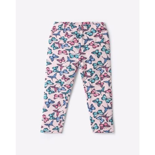 KG FRENDZ Butterfly Print Capris with Elasticated Waist