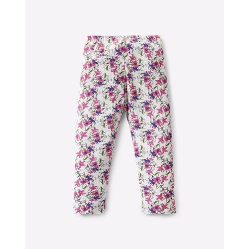 KG FRENDZ Floral Print Capris with Elasticated Waistband