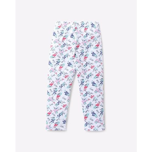 KG FRENDZ Floral Print Capris with Elasticated Waist