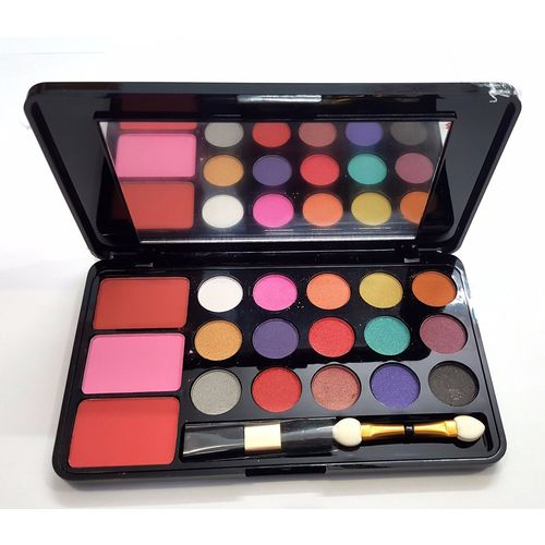 Imported (SHADE-1) 15 COLOR EYE SHADOW 3 COLOR BLUSH MAKEUP KIT