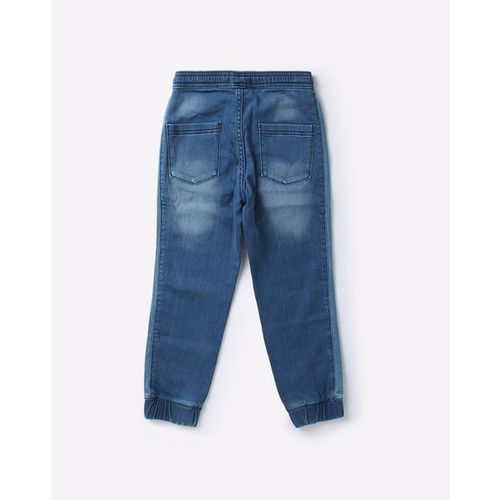 KB TEAM SPIRIT Washed Denim Joggers with Insert Pockets